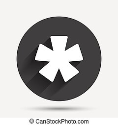 Asterisk footnote sign icon Star symbol - Asterisk footnote...