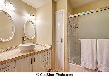 Classic design of bathroom interior