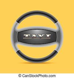 Taxi, cab vector logo, icon, background