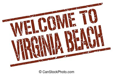 welcome to Virginia Beach stamp