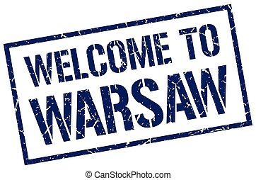 welcome to Warsaw stamp