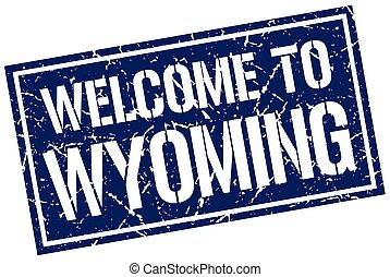 welcome to Wyoming stamp