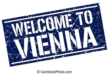 welcome to Vienna stamp