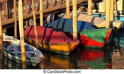 Row Boats At Dock Or Pier