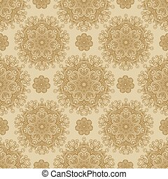 Vector Seamless Background Pattern - Seamless pattern and...