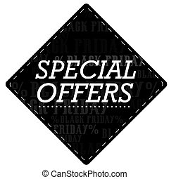 Black friday - Isolated black friday label, Vector...