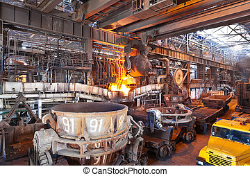 Open-hearth shop of metallurgical plant