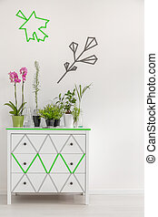 Change commode into a flower stand - Image of decorative...