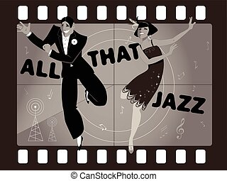 All that jazz - Young couple dressed in 1920s fashion...