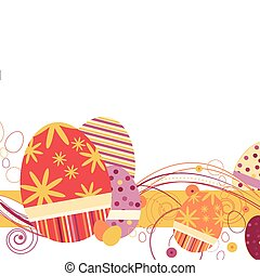 Easter Eggs in Orange Cream colors