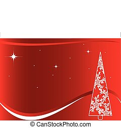 Red Christmas background with white