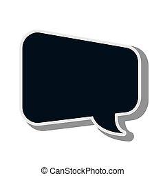 bubble text message design chat communication elements...