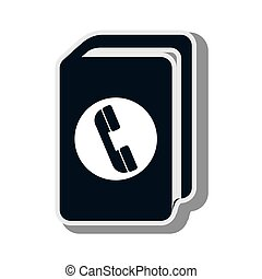 telephone directory book contacts book phone vector...