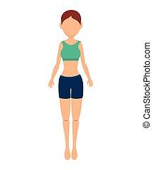 girl exercising design