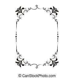 frame victorian vintage old ornate decorative vector...