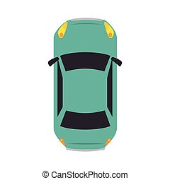 car vehicle top view