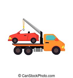 car towing truck