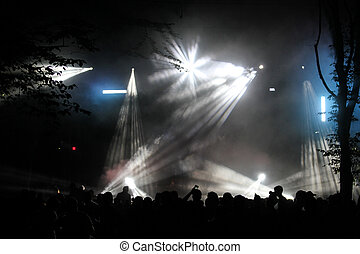 Concert stage at night