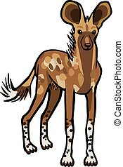 Cape Hunting Dog - Illustration of a Cape Hunting Dog, or...