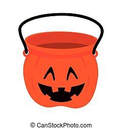 pumpkin bucket halloween - pumpkin bucket of halloween...