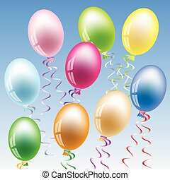 Party balloon - Illustration party ballon in a variety of...
