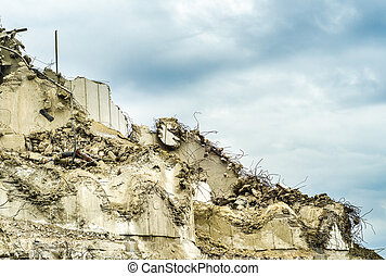 Collapsed Building Wall