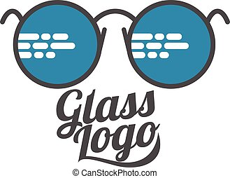 Retro and modern style glasses logo set - Glasses logo,...