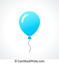 Rubber helium balloon illustration