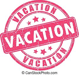 Vacation rubber stamp isolated on white background