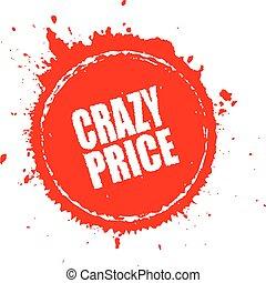 Crazy price splash icon
