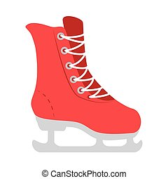 ice skate equipment - ice red skate winter sportwear...