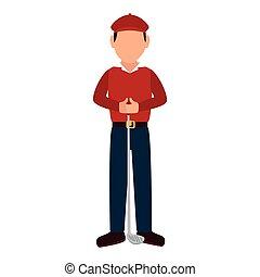golf sport player cartoon