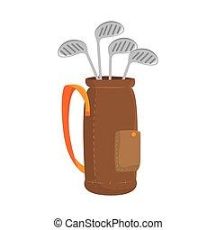 stick golf balls bag
