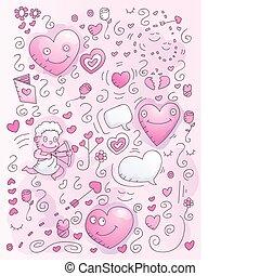 Love Watercolor Doodle - A cartoon watercolor style doodle...