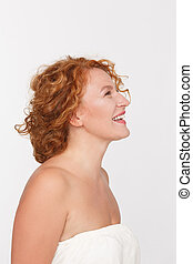 Happy mature woman - Picture of happy mature or middle aged...
