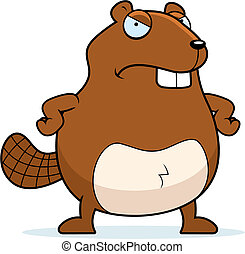 Angry Beaver - A cartoon beaver with an angry expression.