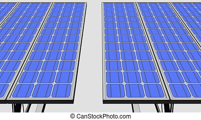 Solar panels farm dolly shot, sketchy version for...