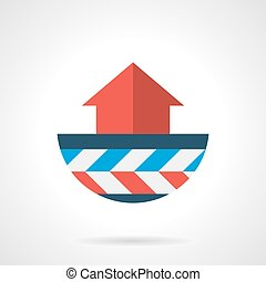 Heat convection modern flat vector icon - Abstract symbol of...