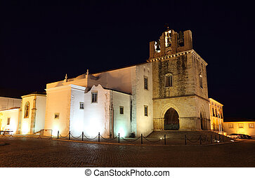 Ancient cathedral Se in the old town of Faro, Portugal