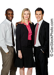 Group of Professionals - An attractive group of...