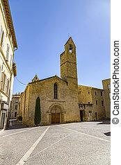 old church saint laurent in Salon de provence under blue sky...