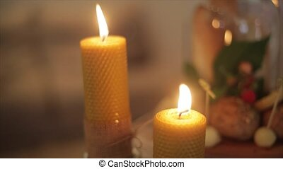 Candle, candle light composition different rituals. -...