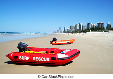 Surf Rescue Boats Gold Coast Australia - Surf rescue boats...