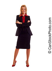blond businesswoman - Attractive young blond businesswoman...