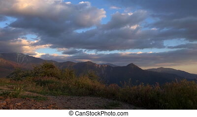 View from Generals Highway in Sequoia National Park near...