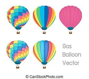 gas balloon vector - a gas balloon vector