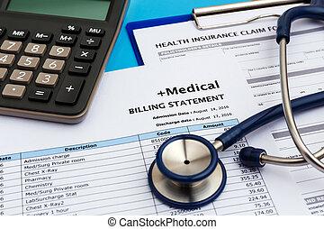 Health care cost concept