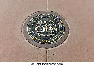New Mexico - Four Corners - New Mexico state seal at the...