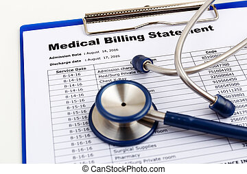 Healthcare cost concept with medical bill - Medical cost...