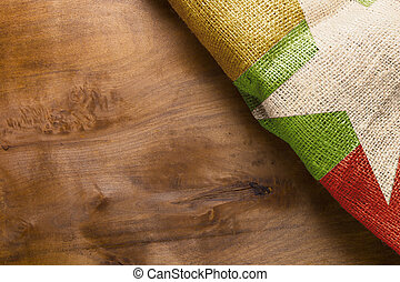 Burma Flag State - Burma flag state on the wooden background...